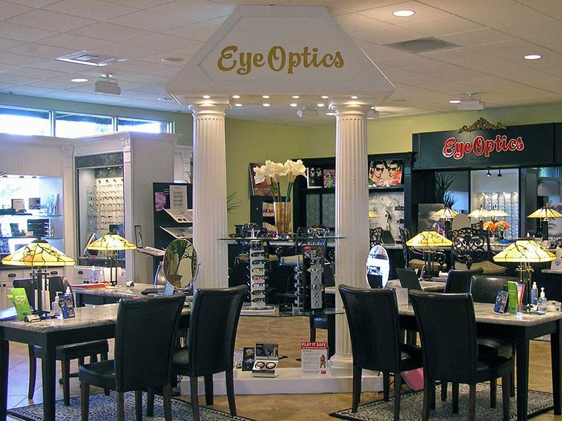 Inside view of EyeOptics Optometry Center